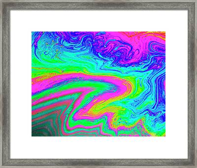 Framed Print featuring the photograph Psychedelic Swirl by Jean Noren