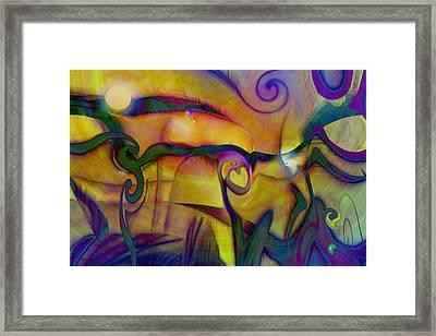 Psychedelic Valley Framed Print by Linda Sannuti