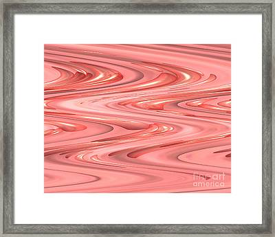 Psychedelic Zigzag Framed Print