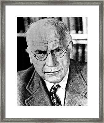 Psychiatrist Carl Gustav Jung, Ca Framed Print by Everett