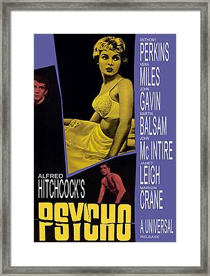 Psycho, Anthony Perkins, Janet Leigh Framed Print by Everett