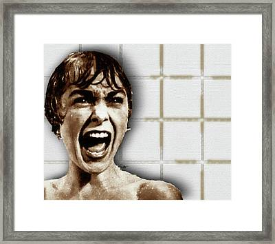 Psycho By Alfred Hitchcock, With Janet Leigh Shower Scene H Color Framed Print by Tony Rubino