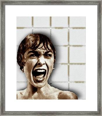 Psycho By Alfred Hitchcock, With Janet Leigh Shower Scene V Color Framed Print by Tony Rubino