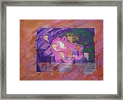 Psycho Pattern Framed Print by Charles Stuart