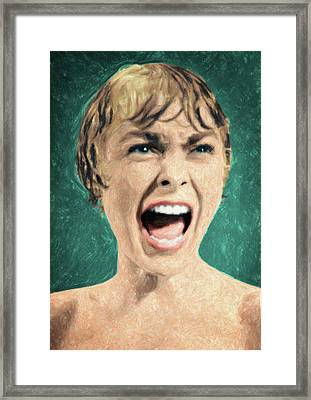 Psycho Shower Scene Framed Print by Taylan Apukovska