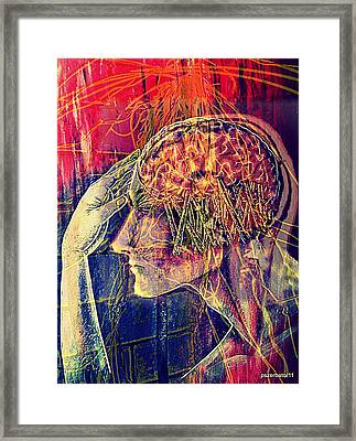 Psychological Crutches Framed Print by Paulo Zerbato
