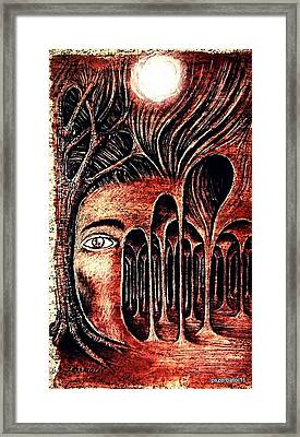 Psychological Labyrinth Framed Print