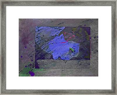 Psychowarhol Blue Framed Print by Charles Stuart