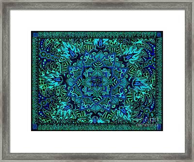 Psyformation Green Hue Framed Print
