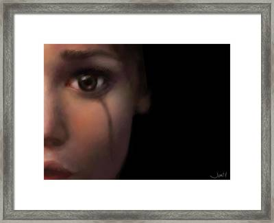 Psylence Broken Framed Print by Jennifer Hickey