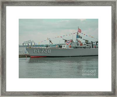 Pt 728 Torpedo Gunboat Framed Print by Dale Powell