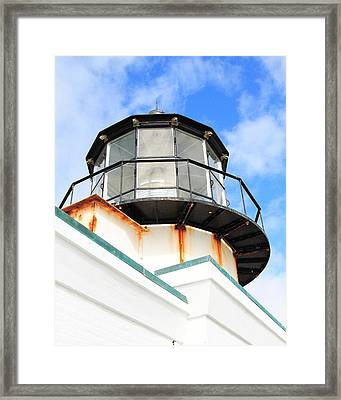 Pt Bonitas Lighthouse Ca Framed Print by Wingsdomain Art and Photography