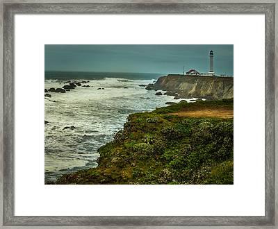 Pt. Arena Lighthouse Framed Print by Michele James
