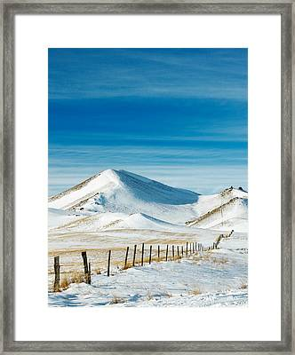 Pthalo Blue On White Framed Print