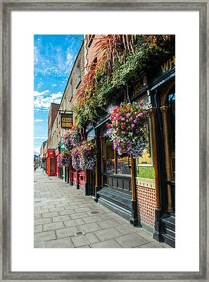 Pub In Dublin In Ireland Framed Print by Andreas Berthold