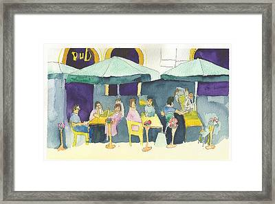 Pub In Harry Hjornes Plats Framed Print