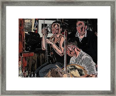 Pub Scene Three Framed Print by Dave Luebbert