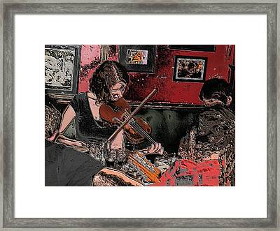 Pub Scene Two Framed Print by Dave Luebbert