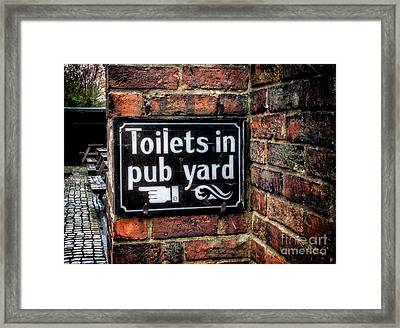 Pub Sign Framed Print by Adrian Evans