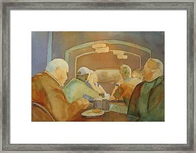 Pub Talk II Framed Print by Jenny Armitage