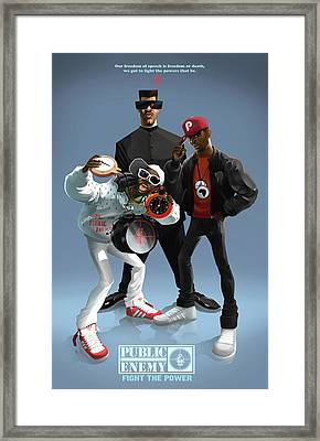 Public Enemy Framed Print by Nelson Garcia