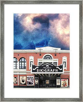 Public Enemy Number 1 John Dillinger Biograph Theater Framed Print