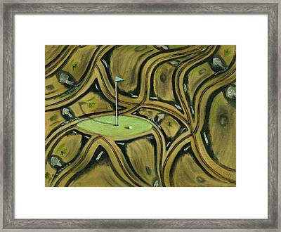 Framed Print featuring the painting Tax Payer Funded Golf Courses Art Print by Tommervik