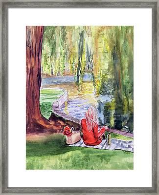 Public Garden Picnic Framed Print
