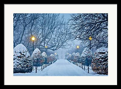 New England Winter Framed Prints