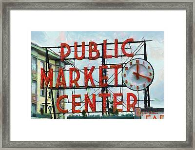 Public Market Center Framed Print