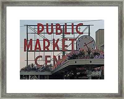 Public Market Framed Print by Chris Anderson