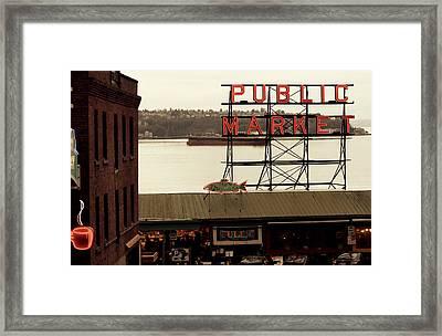 Public Market Framed Print by Kerry Langel