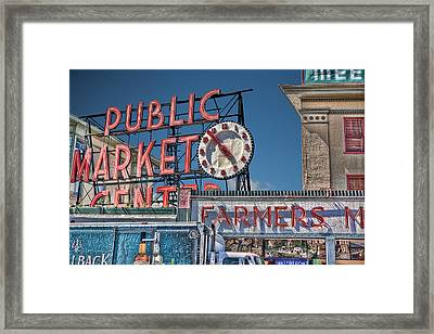 Public Market Framed Print