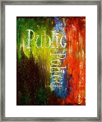 Public Policy Framed Print by Laura Pierre-Louis