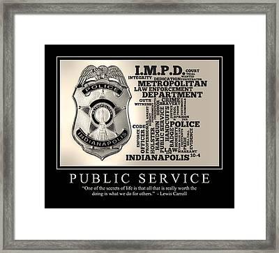 Public Service 2 Framed Print