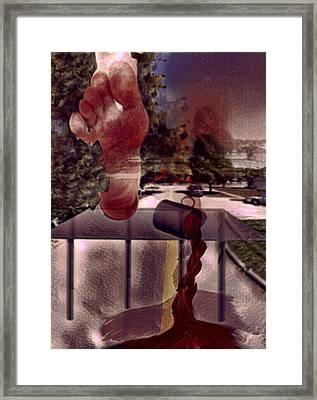 Pucha Foot Down Framed Print