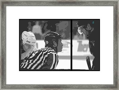 Puck Drop Framed Print by Lucas Armstrong