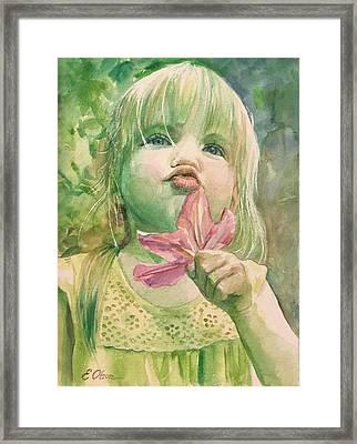 Pucker Framed Print