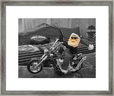 Pucker Up Harley Babes 5 Framed Print by Marie Neder