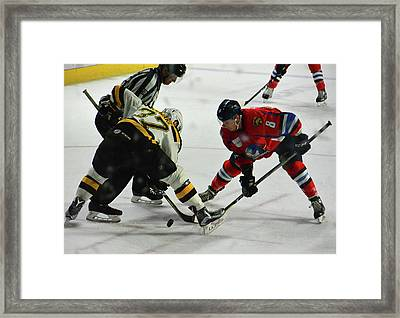 Puck's Dropped Framed Print