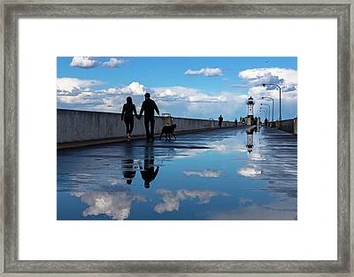 Puddle-licious Framed Print