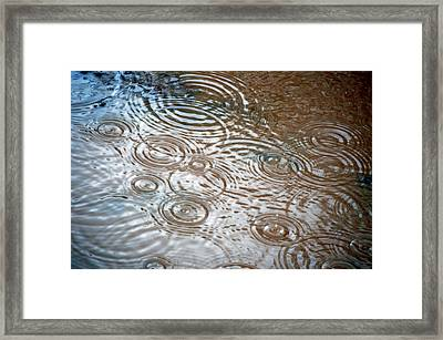 Framed Print featuring the photograph Puddle Patterns by Gwyn Newcombe