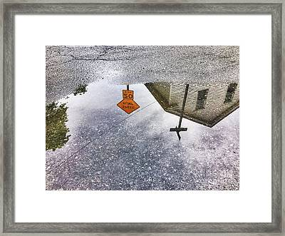 Puddle-view Tours Framed Print