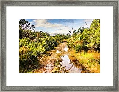 Puddles And Outback Tracks Framed Print by Jorgo Photography - Wall Art Gallery