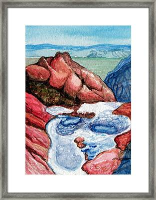Puddles Framed Print by Bonnie Kelso
