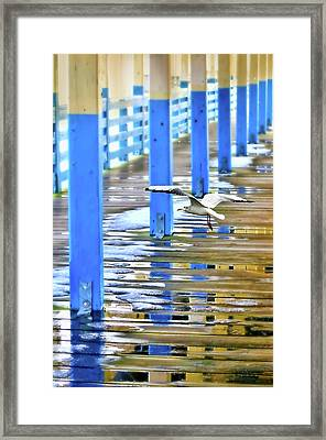 Framed Print featuring the photograph Puddles by Diana Angstadt