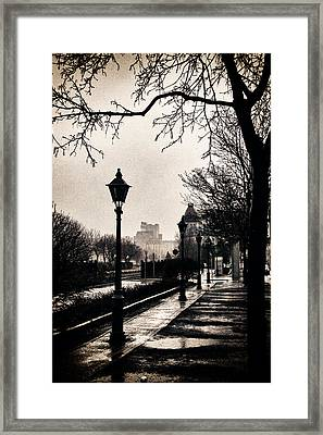 Puddles Of Light.. Framed Print