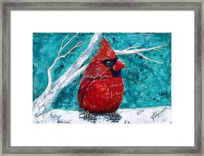 Pudgy Cardinal Framed Print