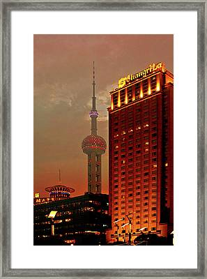 Pudong Shanghai - First City Of The 21st Century Framed Print by Christine Till