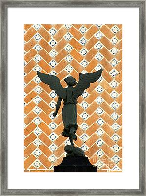 Framed Print featuring the photograph Puebla Angel Mexico by John  Mitchell